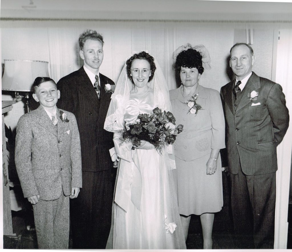 Reg Hart and wife etc 1947 family
